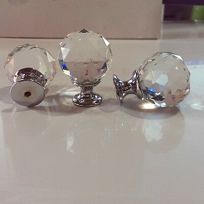 40mm Zinc alloy Spherical crystal sparkle cabinet drawer door pulls knobs handle 4