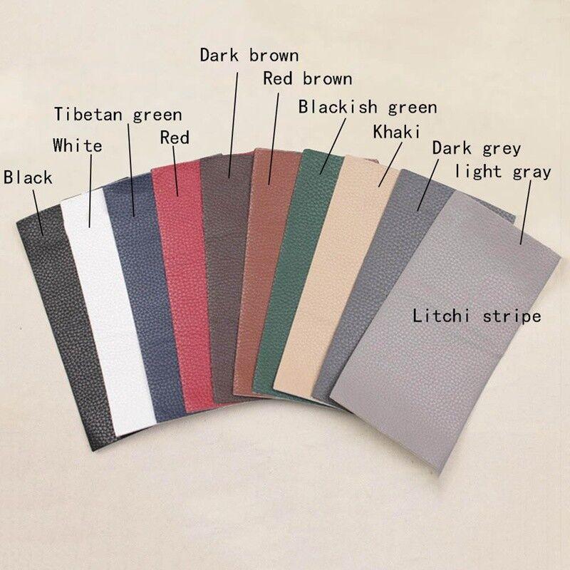 10 Farben Pu Flicken Patches Kunstlederflicken Bügelflicken Selbstklebend Neu 6