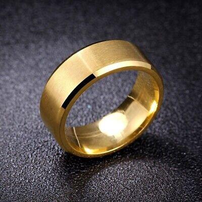 Titanium Stainless Steel 8mm Brushed Finish Men Women Wedding Band Spinner Ring 9