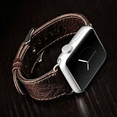 Genuine Leather Strap Band for iWatch Apple Watch 3 2 1 38mm/40mm 42mm/44mm 6
