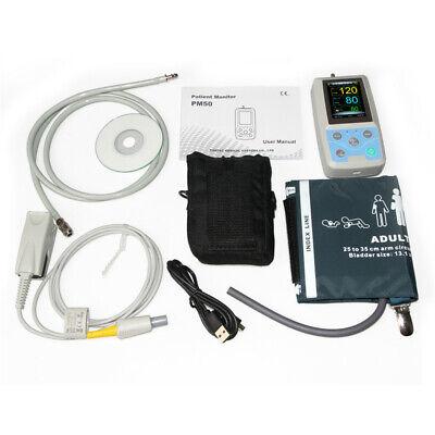 Ambulatory Blood Pressure Patient Monitor Oximeter SPO2 NIBP + 4 Cuffs+ Software 11