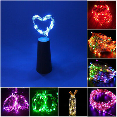 15 LED Cork Shape Fairy Lights Night Light Wine Bottle Strip Lamp for Bar Hotel 3