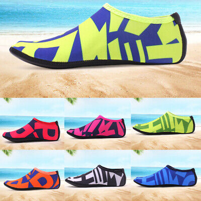 UK Kids Mens Womens Water Shoes Aqua Socks Non Slip Beach Swim Wetsuit Shoes 3