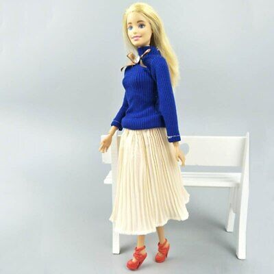 "Fashion Doll Clothes Top Blouses Chiffon Pleated Skirt For 11.5"" Dolls Clothes 11"