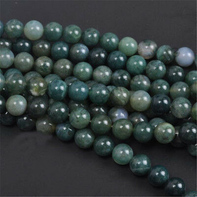 Natural Gemstone Round Spacer Loose Beads 4MM 6MM 8MM 10MM  Assorted Stones 7