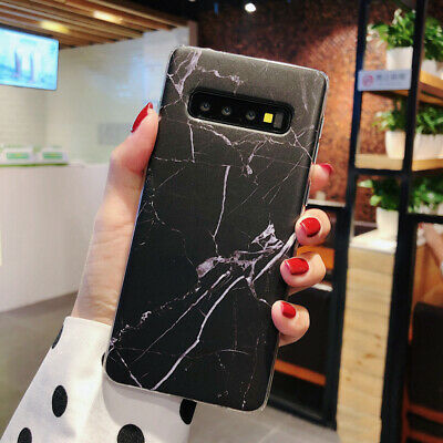 For Samsung Galaxy S10+ S10e S9 S8 Matte Marble Pattern Soft Silicone Case Cover 8