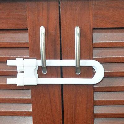 1pcs Child Infant Baby LOAC Kid Safety Drawer Door Cabinet Cupboard U Shape Lock 4