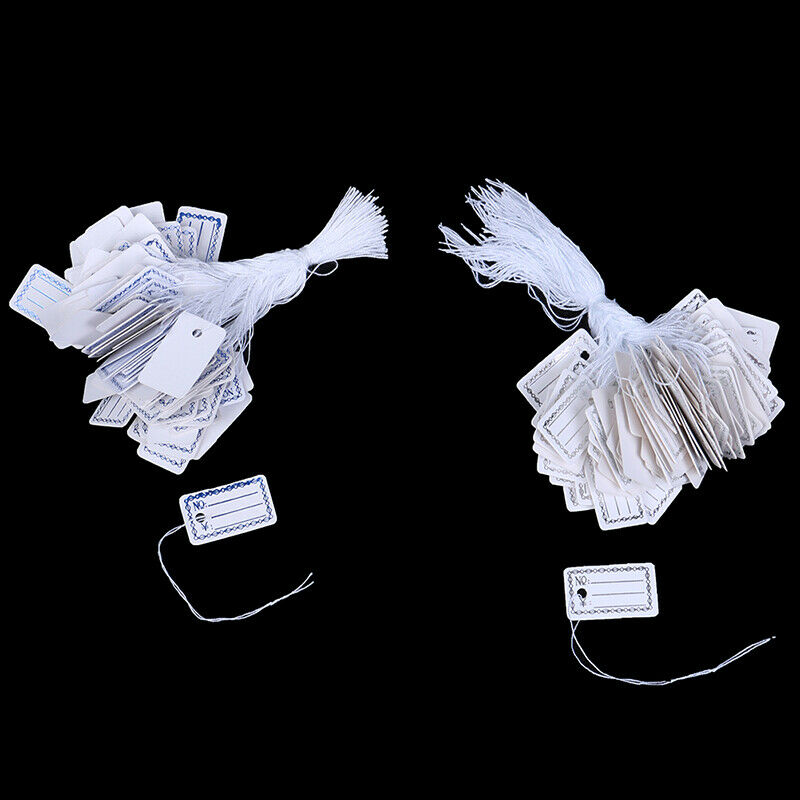 100Pcs New Merchandise Price Tags Hang String Jewelry Price White with StrNWUSHH