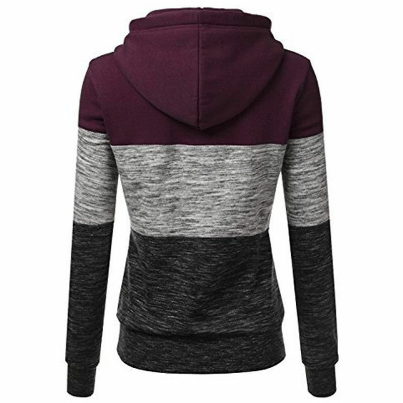 Women's Casual Hoodies Sweatshirt Ladies Hooded Long Sleeve Tops Jumper Pullover 9