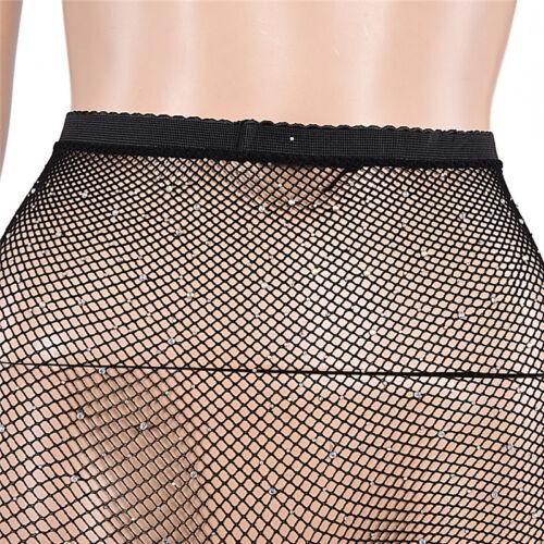 Women Crystal Rhinestone Fishnet Net Mesh Socks Stockings Tights Pantyhose S3 11