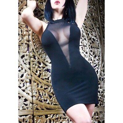 Robe sexy libertine en lycra référence Cecily Les P'tites Folies de Catanzaro 3