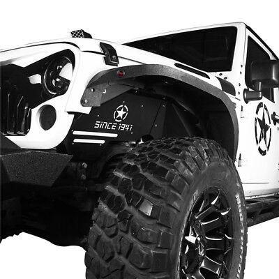 Hooke Road Jeep Wrangler JK 07-18 Front Inner Fender Liners w/ Since 1941 Logo 3