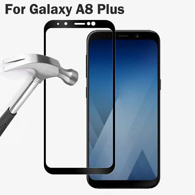 3D Full Cover 9H Tempered Glass Screen Protector For Samsung Galaxy A8 A8+ 2018 3