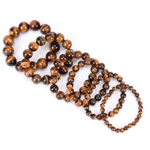 Natural Tiger Eye Stone Lucky bénir perles homme Bracelet Bijoux femme 7