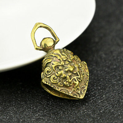 China Antique Collection Brass Exorcism Copper Bell Pendant Accessories 3