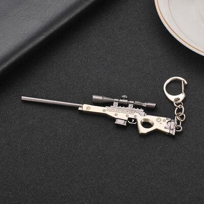 1//8 WW2 PUBG M82A1 RPG SCAR-L 98K AK47 S686 SKS HK416 USA Mini gun Keychain