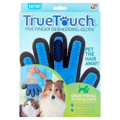 Dog Grooming Glove Mitt Pet Dog Cat Massage Groom Stripping Hair Remover Brush 3