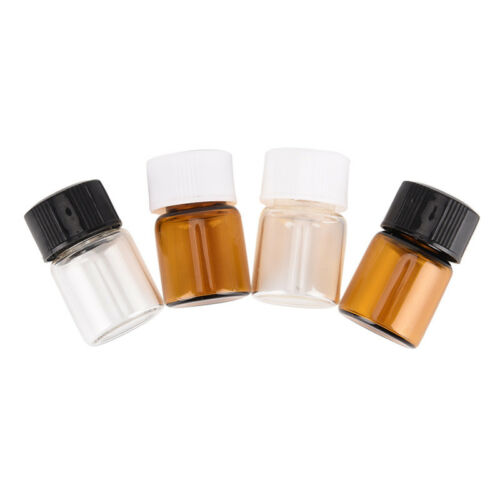 5pcs 2ml small lab glass vials bottles clear containers with screw cap T iy 6