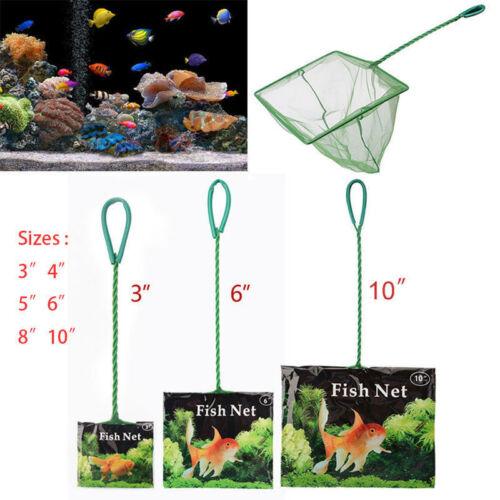 "Useful Small Big Aquarium Fish Tank 3"" 4"" 5"" 6"" 8"" 10"" Fish Net Cold Water Scoop 3"