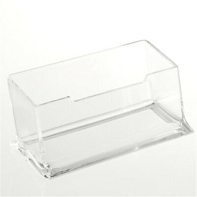 Clear Desktop Business Card Holder Display Stand Acrylic Plastic Desk Shelf