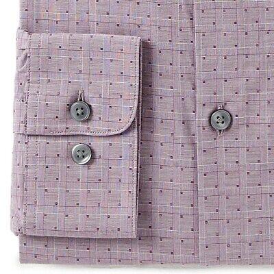 John Varvatos Star USA Men/'s Long Sleeve Check Dress Shirt Regular Fit Wine
