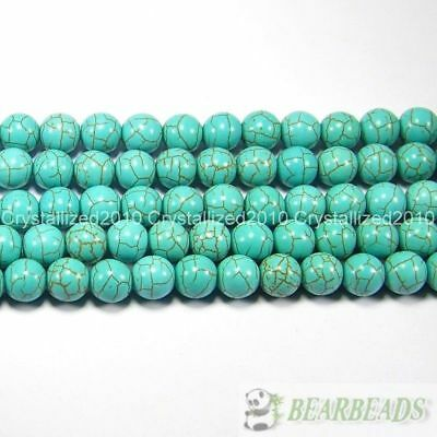 "Howlite Turquoise Gemstone Round Loose Beads 2mm 3mm 4mm 6mm 8mm 10mm 12mm 16"" 2"