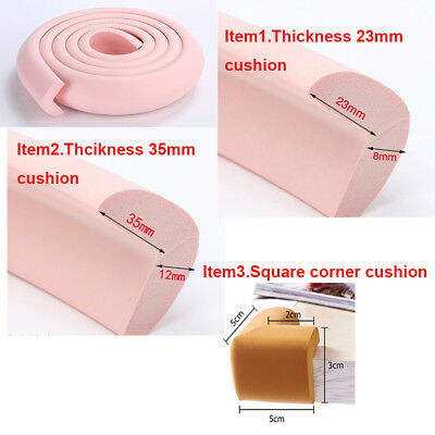 Baby Safety Table desk Edge Corner Cushion Guard Strip Softener Bumper Protector 4