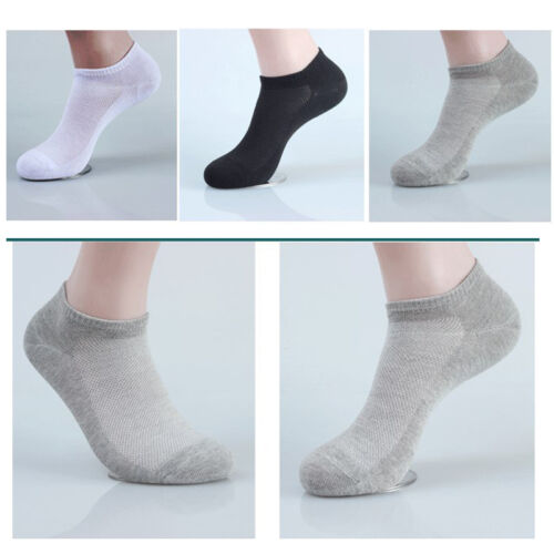 5 Pairs Mens Ankle Socks Low Cut Crew Casual Sport Cotton Thin Mesh Socks 3Color