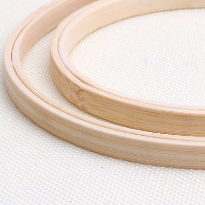 1Pcs Wooden Cross Stitch Machine Embroidery Hoop Ring Bamboo Sewing 13-30cm 9