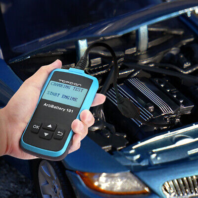 SALE! Auto Car Battery Tester Charger Charging Cranking Test 100-2000CCA 12V 24V 3