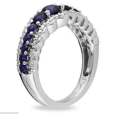 Fashion Woman  Blue Sapphire 925 Silver Wedding Party Ring Size 6-10 2
