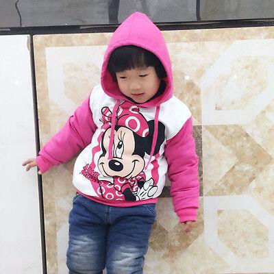 Kinder Baby Mickey Minnie Maus Hoodies Jungen Mädchen Kapuzenpullover Gr. 80-134