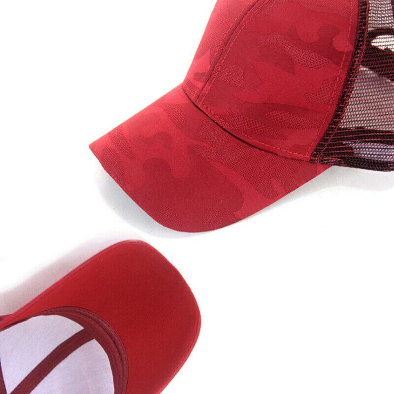 Women Pony Cap Messy High Bun Ponytail Adjustable Mesh Baseball Hat Cute Ne CP 5