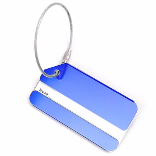 New 1PC Aluminium Luggage Tag Suitcase Label Name Address ID Bag Baggage Tag Hot 4