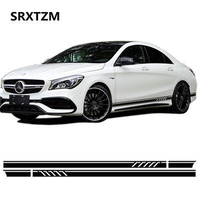 2x Car Side Stripes Decal Vinyl Sticker for Mercedes Benz W117 C117 X117 CLA AMG