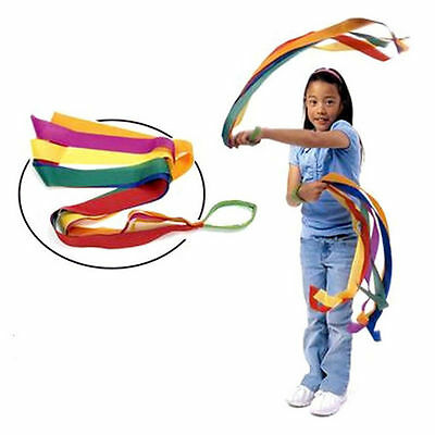 Handheld Dance Ribbon Gym Rhythmic Art Gymnastic Streamer Twirling Rod For Kids