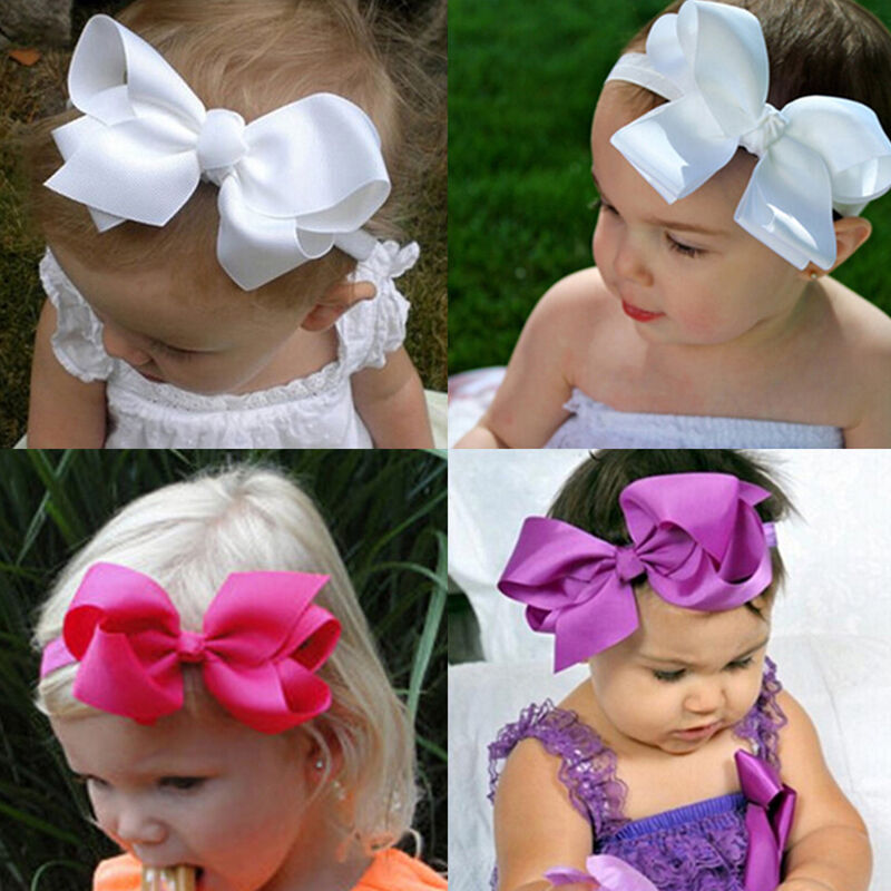 Baby Girls Bunny Cute Kids Ribbon Knot Rabbit Headband Bow Hair Bands Head Bow 8