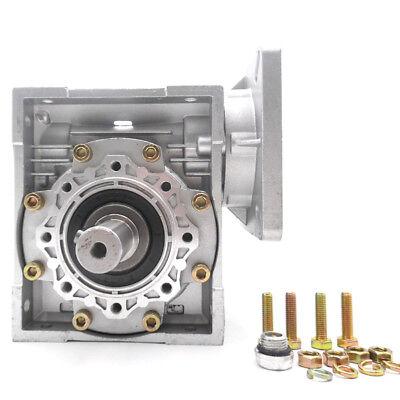 Worm Gear Reducer NMRV040 NEMA34 Input 14mm Ratio 15 25 40 50 80:1 Stepper Motor 3