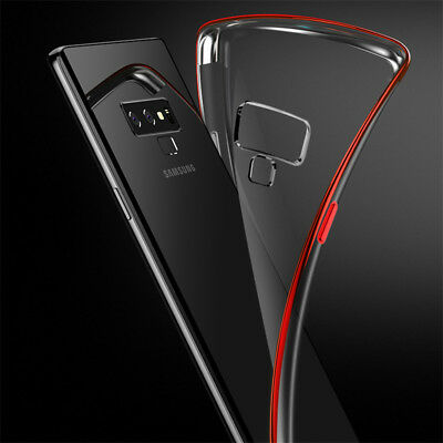 For Samsung Galaxy Note 9 S8 9 S10 Plating Soft Silicone Hybrid Clear Case Cover 4