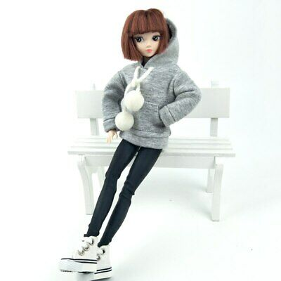 Fashion Doll Clothes Sweatshirt Coat For 11.5in. Doll Outfits Pants Shoes 1/6 10