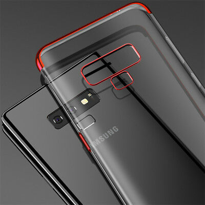 For Samsung Galaxy Note 9 S8 9 S10 Plating Soft Silicone Hybrid Clear Case Cover 9