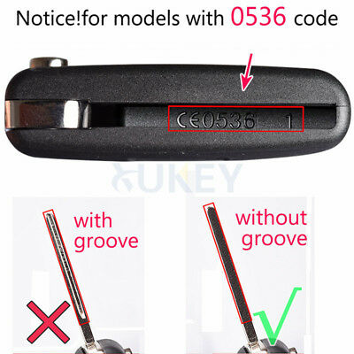 Fit For Citroen C2 C3 C4 Picasso Case Fob Flip Remote Key Replacement Shell 2