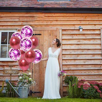 10 Pièces / Lot Chrome Confettis Ballons Bouquet Fête D'Anniversaire Décor 6