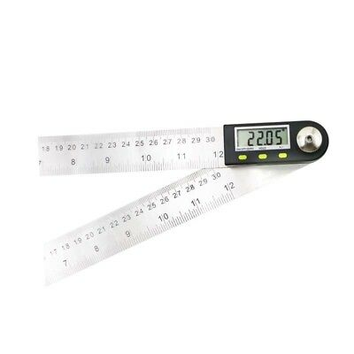 New SHAHE 300mm 12'' Digital Protractor Inclinometer Stainless Steel Angle Rule 6