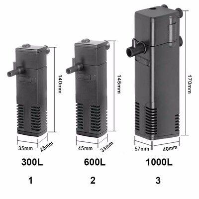 300LPH verticale Aquarium Fish Tank Filtre interne Pompe de filtration pulvérisa 2
