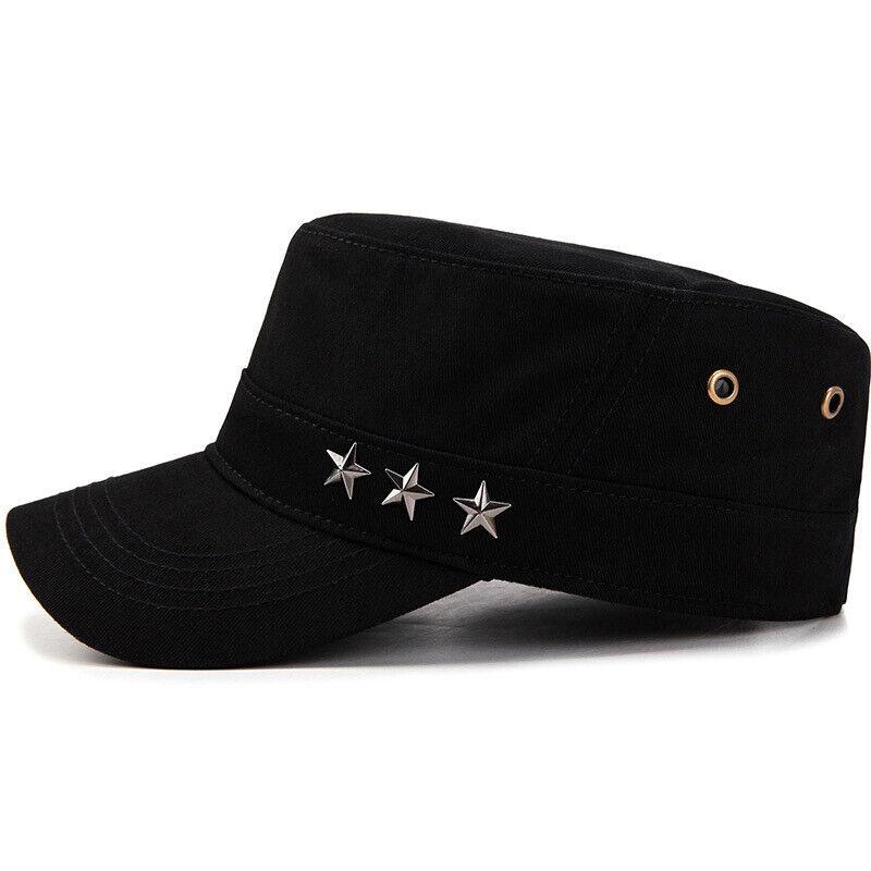 Classic Mens Women Army Military Cadet Combat Cap Sun Adjustable Sport Plain Hat 6