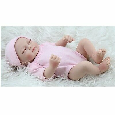 Reborn Toddler Lifelike Baby Dolls Full Body Silicone Girl Doll+Clothes 3