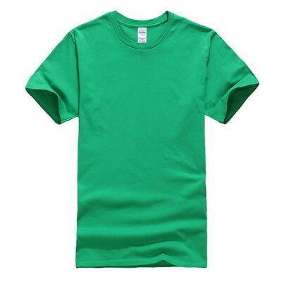 Mens Casual Short Sleeve Cotton Tee Crewneck Solid Top Undershirt Summer T-Shirt