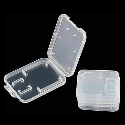 10X SD SDHC Memory Card Cases Holder Box Storage Hard Plastic Transparent Holder 3