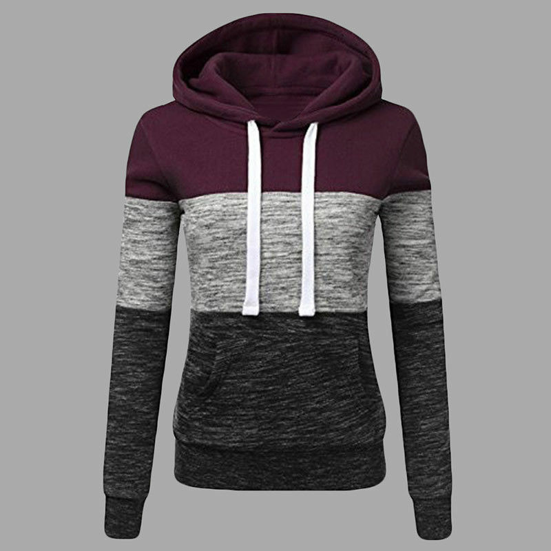 Women's Casual Hoodies Sweatshirt Ladies Hooded Long Sleeve Tops Jumper Pullover 8